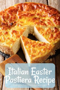 Italian Easter Pastiera Recipe One of my favorite Easter traditions in an Italian household is making Easter Pastiera! This Italian Dessert, rich with eggs and creamy ricotta cheese is also known as Italian Easter Pie, Italian Cake, Italian Cookies, Italian Rice Cake Recipe, Italian Easter Rice Pie Recipe, Desserts Ostern, Köstliche Desserts, Dessert Recipes, Cake Recipes