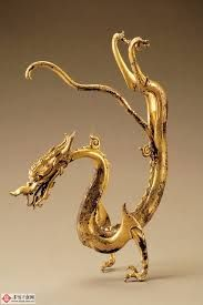 Shaanxi Museum Dragon - Tung Dynasty - Gold Gilded. One of a pair. Priceless!