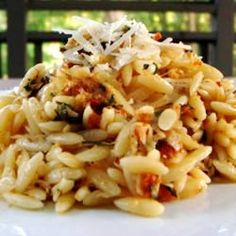 """Sun-Dried Tomato Basil Orzo 