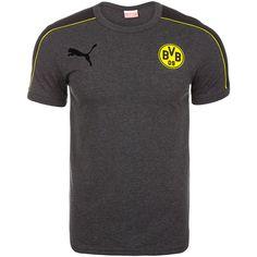 Borussia Dortmund T7 T-Shirt Herren    Mit diesem BVB-T-Shirt unterstützt du deine Lieblingsmannschaft. Es ist vom Design her an die T7-Kollektion angelehnt - PUMAs berühmtestes Lifestyle-Design.    Details:  Baumwolle, in Afrika hergestellt: angenehm zu tragen und nachhaltig produziert / Toller Schulter-Ärmel-Bereich in BVB-Farben für einenunverwechselbaren Look / Aufgedrucktes offizielles BVB...