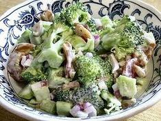 DIABETIC RECIPES: Diabetic Recipe : Raw Broccoli Salad