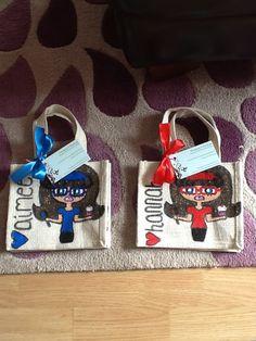 Twins Small Jute Bags, Twins, Lunch Box, Bento Box, Gemini, Twin