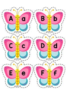 Spring Literacy Centers for Kindergarten. Butterfly upper and lower case letter … Spring Literacy Centers for Kindergarten. Butterfly upper and lower case letter match. Preschool Worksheets, Preschool Learning, Preschool Activities, Kindergarten Centers, Literacy Centers, Alphabet Activities, Literacy Activities, Alphabet For Kids, Toddler Learning