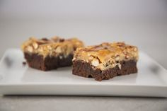 Guldbageren - Chokoladebrownie med karamelcrunch