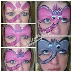 www.makingfaces.vpweb.com Tag homemade one stroke (pink, rose, purple, berry wine) Tag 3/4 #12 brush Fab bubblegum Black and white Googly eyes from craft sto...