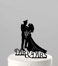 Wedding Cake Topper Silhouette Military Groom & by TrueloveAffair, $20.00