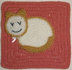 """Ravelry: Here Kitty, Kitty - 12"""" Square pattern by Melinda Miller"""