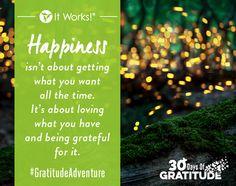 Happiness and gratitude go hand in hand! #GratitudeAdventure