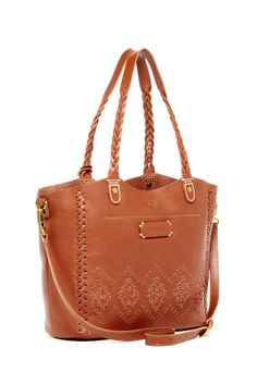 Brown Boho Embroidered Purse