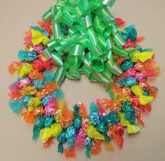 Sugar Free Candy Wreath Edible Spring Hard by CandyWreathsbyCarla