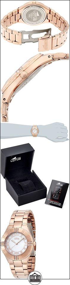 Lotus  0 - Reloj de cuarzo para mujer, con correa de acero inoxidable, color dorado  ✿ Relojes para mujer - (Gama media/alta) ✿