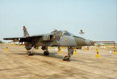 RAF Honington. June, 1992. RAF SEPECAT Jaguar GR.1A XX745.