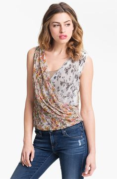 Bailey 44 'El Greco' Mix Print Draped Top available at Nordstrom