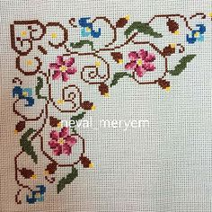 81 Likes, 0 Comments - Neval _ Cross Stitch Borders, Cross Stitch Flowers, Cross Stitch Designs, Cross Stitching, Cross Stitch Embroidery, Hand Embroidery, Cross Stitch Patterns, Crochet Patterns, Palestinian Embroidery