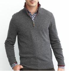 49f8d621576 Men s Cotton Cashmere Pullover Zipper Open Sweater pullover Quality  Knitwear Man Swt-m10108 - Buy Zipper Open Sweater