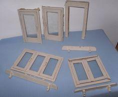 Türen+-Glas-Fenster+-+Renovierung+-+Puppenstube+-+Fensterbretter