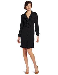 Bobi Women`s Supreme Ruffle Button Front Dress $71.25