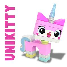 My daughter went crazy when she saw this. How to Draw Unikitty Minifigure from The Lego Movie in Easy Steps