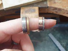 Wedding rings under construction!