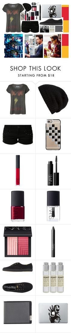 """Tony Stark"" by overdue22 ❤ liked on Polyvore featuring Rick Owens, even&odd, Casetify, NARS Cosmetics, Keds, Le Labo and Tumi"