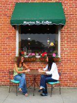 Morton Street Coffee, Shipshewana, Indiana ... an important spot in my series. : )