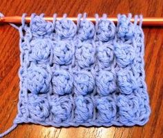 Tunisian Bubble Stitch 011513 - Lots of Crochet Stitches