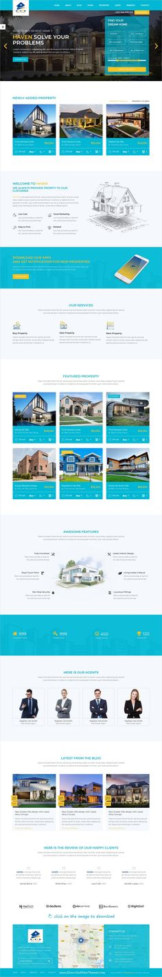 Haven is clean and modern design responsive bootstrap template for #realestate and #property agents website with 6 homepage layouts to live preview & download click on the image.