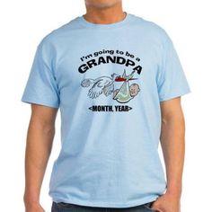 Cafepress Personalized Funny Grandpa To Be Light T-Shirt, Men's, Size: Medium, Blue