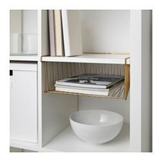 You can use the inserts to customize KALLAX shelf unit so that it suits your storage needs. Helps you keep track of important papers, letters and magazines.