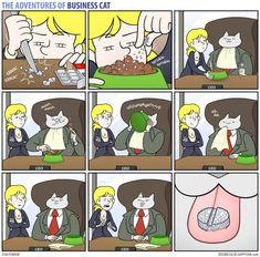 Os gatos são animais independentes, curiosos e cheios de manias que ninguém consegue entender. Agora, imagine como seria se seu chefe fosse um gato. O artista Tom Fonder desenhou e escreveu uma sér…