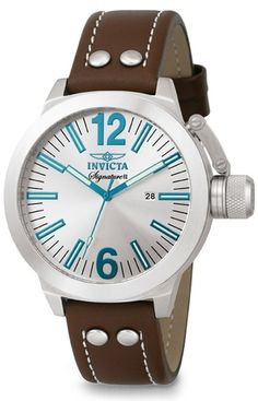 fabulous blue and brown invicta watch - love this watch!!!! this is so me