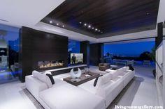 unique Pop False Ceiling Designs with LED Ceiling Lighting living room