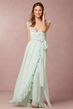 Polly Dress in Bridal Party & Guests at BHLDN - Color: Pacific Mist