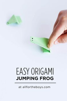 Origami Frog Easy Great Of How To Make A Origami Frog An Easy For Children. Origami Frog Easy Origami Frog That Jumps Easy How To Make A Paper Frog Step Step Paper Craft Tutorial. Origami Frog Easy How To Fold… Continue Reading → Origami Simple, Kids Origami, Useful Origami, Origami Art, Craft Activities For Kids, Projects For Kids, Diy For Kids, Crafts For Kids, Stem Activities