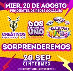 #CREATIVOS todos pendientes porque ya comenzaremos a dar detalles del evento que estamos preparando para este año.  www.creativosmonterrey.com