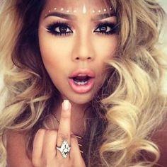 Risultati immagini per glitter hair