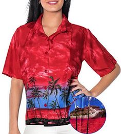 SUMMER DAY LUAU PARTY SHORT SLEEVES CRUISE SPORTS SHIRT 222 B_Red XL LIGHTWEIGHT. Do YOU want blouse in other colors Like Red | Pink | Orange | Violet | Purple | Yellow | Green | Turquoise | Blue | Teal | Black | Grey | White | Maroon | Brown | Mustard | Navy ,Please click on BRAND NAME LA LEELA above TITLE OR Search for LA LEELA in Search Bar of Amazon To get COMFORTABLE FIT and Right SIZE FOR YOU, request you to view SIZE CHART See LA LEELA's SIZE IMAGE in Product Image on the left. SAVE…