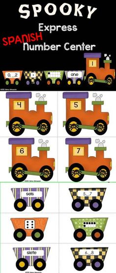 Number Center from my October Bundle--Spanish Version Come check out the preview to see what all comes in this Math and Reading Mega Bundle... Awesome activities and awesome clip art! Created by Alma Almazan