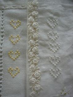 Cross stitch and bullion roses