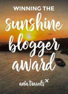 winning the sunshine blogger award pintrest Interesting Blogs, Kinds Of People, Make Money Online, Have Fun, Awards, Sunshine, Positivity, Thoughts, Travel