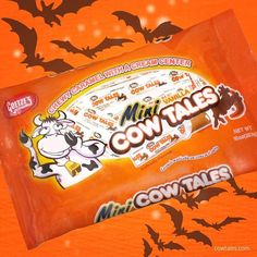 Find Mini Cow Tales for Halloween in your candy aisle or Halloween section! Halloween Treats, Halloween Party, Cow Tales, Mini Cows, All Candy, Candy Cakes, Favorite Candy, Candy Buffet, Trick Or Treat