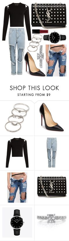 """""""334."""" by plaraa on Polyvore featuring Forever 21, Christian Louboutin, Proenza Schouler, WearAll, Pilot, Yves Saint Laurent, CLUSE, Mark Broumand and Smashbox"""