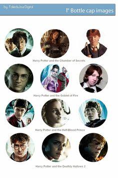 """Free Bottle Cap Images: Harry Potter free digital bottle cap images 1"""" 1in..."""