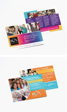 Postcard Designs for Reach Out Arts