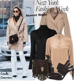 """""""NYFW Street Style: Camille Charriere"""" by helenevlacho on Polyvore"""