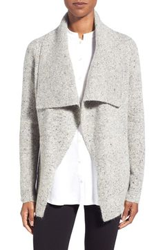 Eileen Fisher Tweed Shawl Collar Open Front Jacket (Regular & Petite) available at #Nordstrom