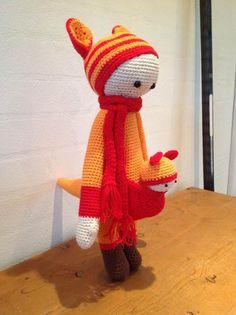 KIRA the kangaroo made by Hanne M. / crochet pattern by lalylala