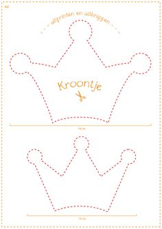 Kroontje - uitprinten en uitknippen op A4 Diy Birthday Crown, Birthday Wall, Felt Crafts, Diy And Crafts, Paper Crafts, Paper Mache Diy, Mickey 1st Birthdays, Mickey Mouse Decorations, Baby Mobile Felt
