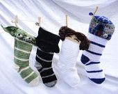 Star Wars Crochet Christmas Stockings-- Set of 4