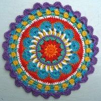 Crochet Mandala Wheel made by Georgia, Wiltshire, UK, for yarndale.co.uk
